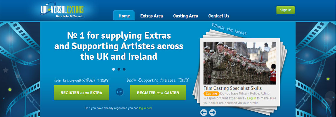 The leading agency for the supply of  Extras and supporting Artistes